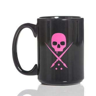 Cup SULLEN - BADGE COFFEE - BLACK / PINK, SULLEN