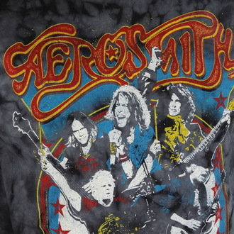 t-shirt metal men's Aerosmith - Group Shield - BAILEY, BAILEY, Aerosmith