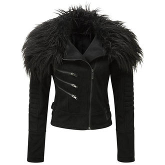 spring/fall jacket women's - Selene Fur Biker - KILLSTAR - K-JKT-F-2250
