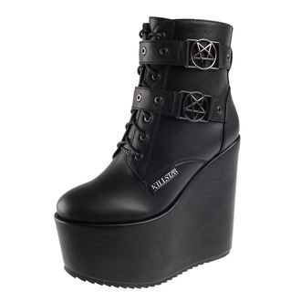wedge boots women's - Sabitha - KILLSTAR, KILLSTAR