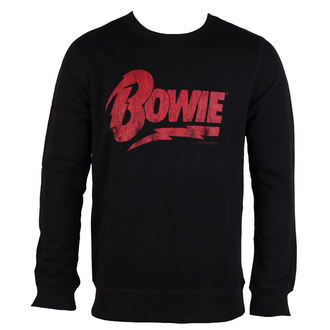 sweatshirt (no hood) men's David Bowie - NAME LOGO - AMPLIFIED, AMPLIFIED, David Bowie