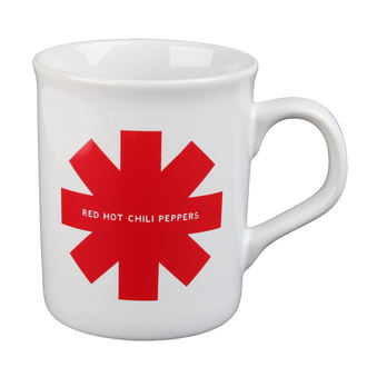 Cup Red Hot Chili Peppers - Red Asterisk - White, Red Hot Chili Peppers