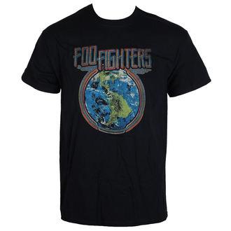 tričko pánské Foo Fighters - Globe - Black - LIVE NATION, LIVE NATION, Foo Fighters