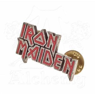 Tack Iron Maiden - ALCHEMY GOTHIC - Enamel Logo, ALCHEMY GOTHIC, Iron Maiden