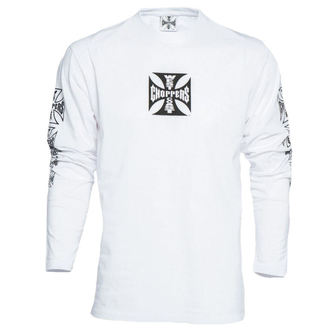 t-shirt men's - WCC OG CROSS LONG SLEEVE - West Coast Choppers - WCCLS001WT