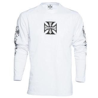 T-Shirt men's - WCC OG CROSS LONG SLEEVE - West Coast Choppers - WCCLS001WT