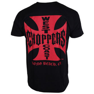 t-shirt men's - WCC IRON CROSS - West Coast Choppers - WCCTS003ZW