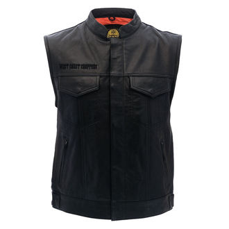 vest - OG CROSS LEATHER RIDING - West Coast Choppers, West Coast Choppers