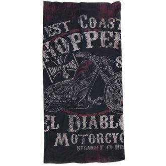 Kerchief West Coast Choppers - EL DIABLO - BLACK, West Coast Choppers