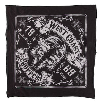 Kerchief West Coast Choppers - SKULL 13 - BLACK, West Coast Choppers
