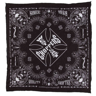 Kerchief West Coast Choppers - HANDCRAFTED - BLACK, West Coast Choppers