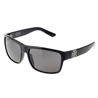 Glasses West Coast Choppers - SHINY BLACK SMOKED, West Coast Choppers