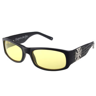 Glasses West Coast Choppers - WCC GANGSCRIPT - MATTE BLACK YELLOW, West Coast Choppers