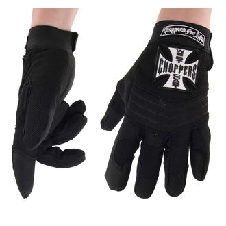 Gloves West Coast Choppers - RIDING - BLACK, West Coast Choppers