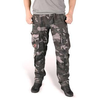 Pants men's SURPLUS - AIRBORNE SLIMMY - BLACK CAMO
