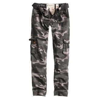 Pants women's SURPLUS - PREMIUM SLIMMY - BLACK CAMO - 33-3588-42