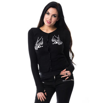 sweater women's VIXXSIN - SKULL CROW - BLACK - POI231