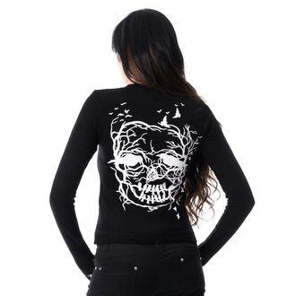 sweater women's VIXXSIN - SKULL CROW - BLACK, VIXXSIN