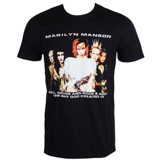 t-shirt metal men's Marilyn Manson - Rock Is Dead - ROCK OFF - MMTTRTW01MB