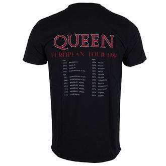 t-shirt metal men's Queen - European Tour 1984 - ROCK OFF, ROCK OFF, Queen