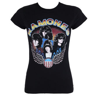 t-shirt metal women's Ramones - Vintage Wings - ROCK OFF, ROCK OFF, Ramones