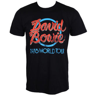 t-shirt metal men's David Bowie - 1978 World Tour - ROCK OFF - BOWTTRTW01MB
