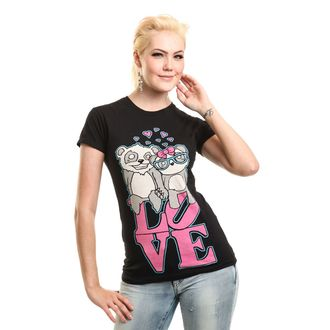 t-shirt women's - LOVE TO HATE - KILLER PANDA, KILLER PANDA