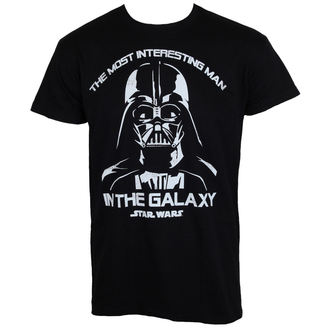 t-shirt men Star Wars - The Most Interesting Man In The Galaxy - Black - HYBRIS - LF-1-SW021-H38-1