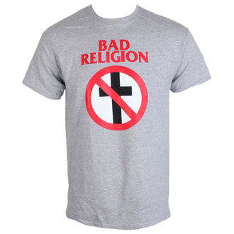 Metal T-Shirt men's Bad Religion - Crossbuster Heather Gray - KINGS ROAD - 20083757