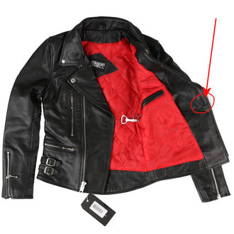 leather jacket - Defector Blk Nick - STRAIGHT TO HELL, STRAIGHT TO HELL