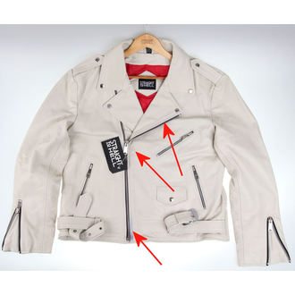 leather jacket - Commando Wht - STRAIGHT TO HELL, STRAIGHT TO HELL