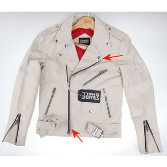 leather jacket - Commando Wht - STRAIGHT TO HELL