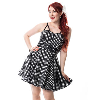 Dress women's RockaBella - KEIRA - BLACK gingham, ROCKABELLA