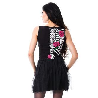 Dress women's Vixxsin - RIB N ROSE - BLACK, VIXXSIN