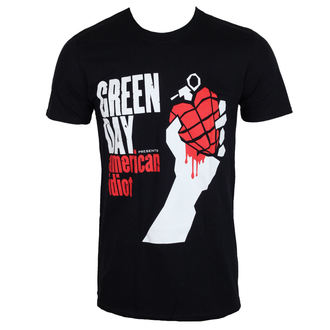 t-shirt metal men's Green Day - AMERICAN IDIOT - PLASTIC HEAD - PH10240