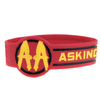 Rubber Bracelet ASKING ALEXANDRIA - DIE CUT CIRCLE LOGO - PLASTIC HEAD, PLASTIC HEAD, Asking Alexandria