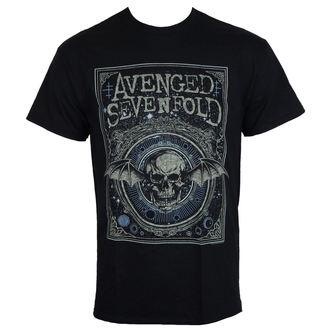 t-shirt metal men's Avenged Sevenfold - ORNATE DEATH BAT - PLASTIC HEAD - RTAVS003