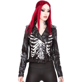 leather jacket women's - Morgue Gimme Bones - KILLSTAR, KILLSTAR