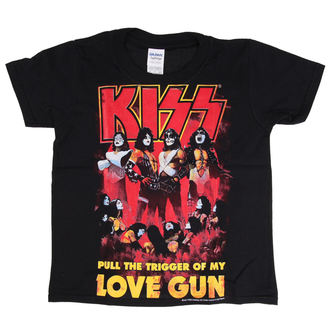 t-shirt metal men's children's Kiss - Love Gun - LOW FREQUENCY - KITS060011KD