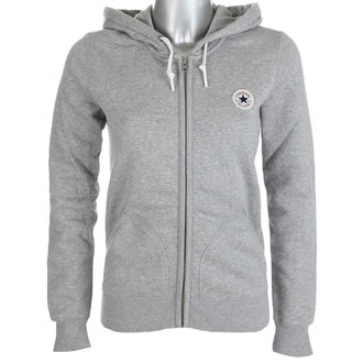 hoodie women's - VINTAGE GREY - CONVERSE, CONVERSE