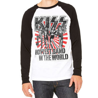 t-shirt metal men's Kiss - Hottest Band In The World - HYBRIS, HYBRIS, Kiss