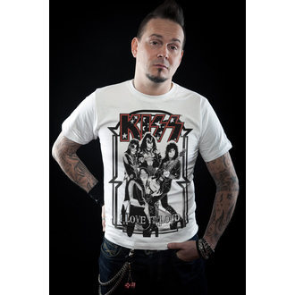 t-shirt metal men's Kiss - I Love It Loud - HYBRIS, HYBRIS, Kiss