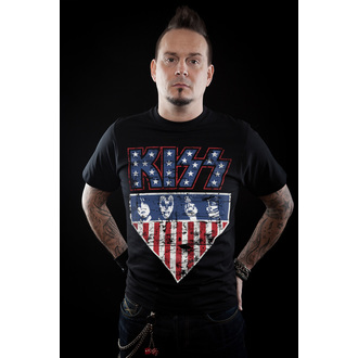 t-shirt metal men's Kiss - Stars & Stripes - HYBRIS, HYBRIS, Kiss