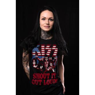 t-shirt metal women's Kiss - Shout It Out Loud - HYBRIS, HYBRIS, Kiss