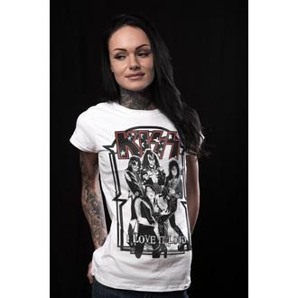 t-shirt metal women's Kiss - I Love It Loud - HYBRIS, HYBRIS, Kiss
