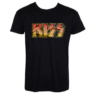 t-shirt metal men's Kiss - Distressed Logotype - HYBRIS, HYBRIS, Kiss