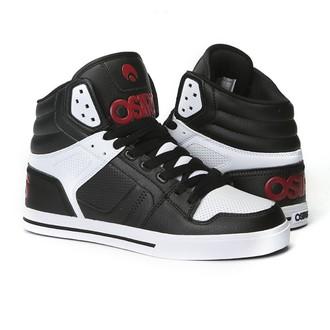 high sneakers women's unisex - Clone Black/Red/White - OSIRIS, OSIRIS