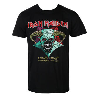 Metal T-Shirt men's Iron Maiden - Legacy of the Beast European Tour 2018 - ROCK OFF - IMTEE72MB
