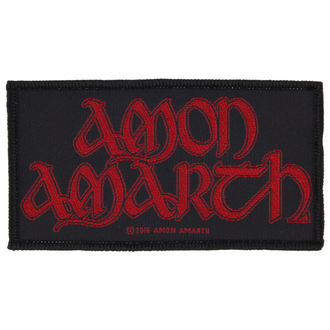 patch AMON AMARTH - RED LOGO - RAZAMATAZ, RAZAMATAZ, Amon Amarth