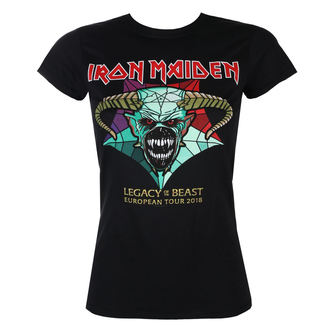 t-shirt metal women's Iron Maiden - Legacy of the Beast European Tour 2018 - ROCK OFF, ROCK OFF, Iron Maiden
